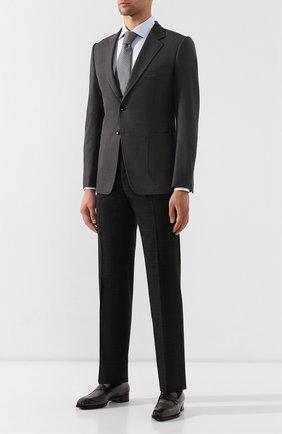 Мужской пиджак из смеси шерсти и шелка TOM FORD серого цвета, арт. 518R02/1DYJ40 | Фото 2