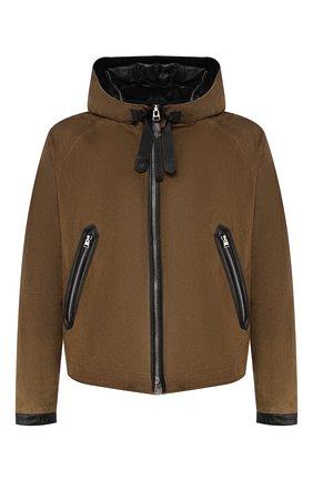 Мужская замшевая куртка TOM FORD хаки цвета, арт. BS430/TFL639 | Фото 1