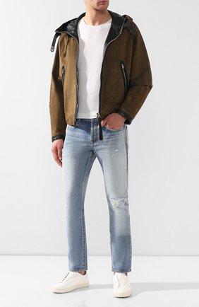 Мужская замшевая куртка TOM FORD хаки цвета, арт. BS430/TFL639 | Фото 2