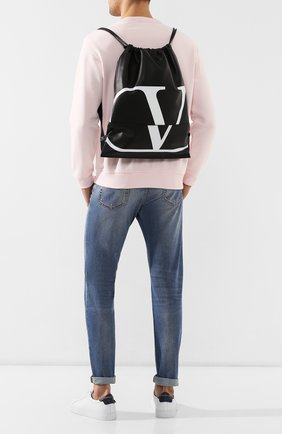 Мужской кожаный рюкзак valentino garavani vlogo VALENTINO черного цвета, арт. RY0B0760/XCU | Фото 2