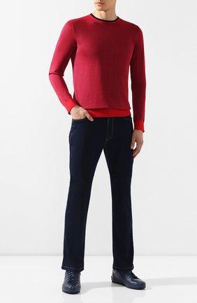 Мужской джемпер из смеси шелка и хлопка ZILLI красного цвета, арт. MBR-RN330-PISA1/ML01   Фото 2