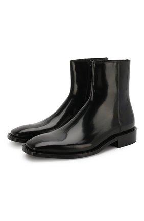 Мужские кожаные сапоги BALENCIAGA черного цвета, арт. 558454/WA7B0 | Фото 1