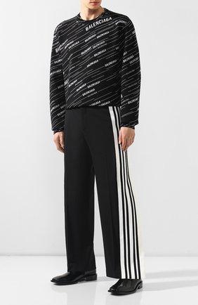 Мужские кожаные сапоги BALENCIAGA черного цвета, арт. 558454/WA7B0 | Фото 2