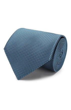 Мужской шелковый галстук BRIONI бирюзового цвета, арт. 062I00/08439 | Фото 1