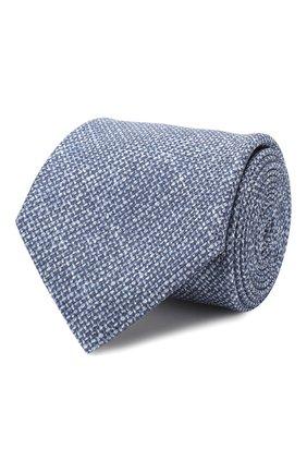 Мужской комплект из галстука и платка BRIONI голубого цвета, арт. 08A900/08470   Фото 1