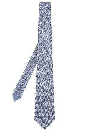 Мужской комплект из галстука и платка BRIONI голубого цвета, арт. 08A900/08470   Фото 2