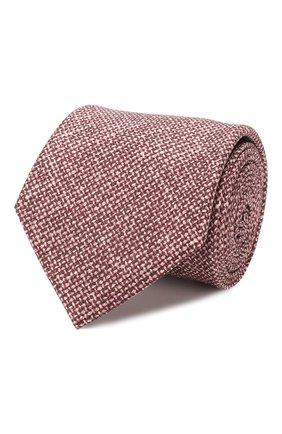 Мужской комплект из галстука и платка BRIONI бордового цвета, арт. 08A900/08470 | Фото 1