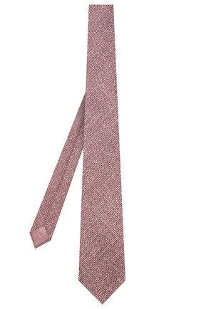 Мужской комплект из галстука и платка BRIONI бордового цвета, арт. 08A900/08470 | Фото 2
