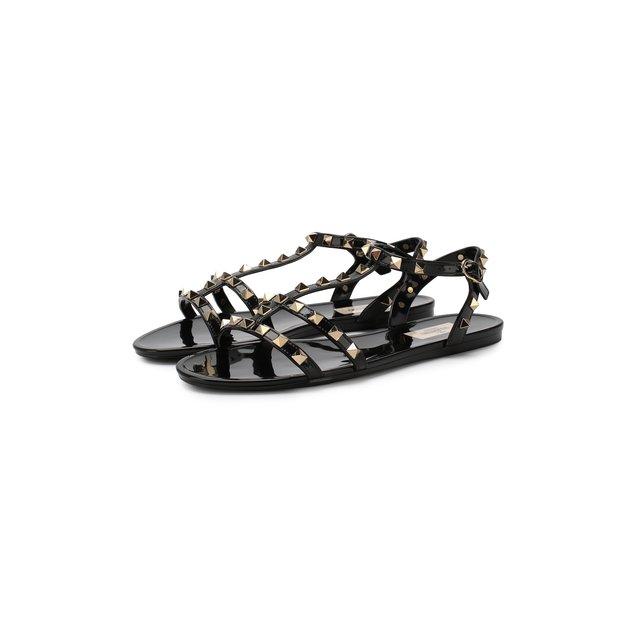 Резиновые сандалии Rockstud Valentino