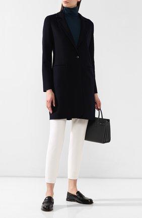 Женское шерстяное пальто LORO PIANA темно-синего цвета, арт. FAI0804 | Фото 2