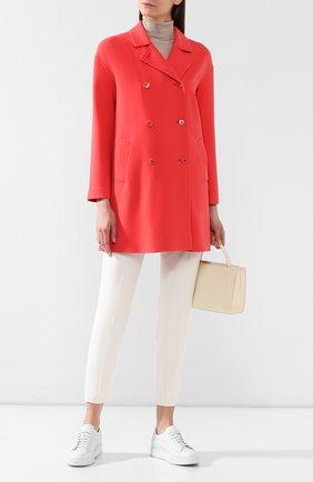 Женское шерстяное пальто LORO PIANA кораллового цвета, арт. FAI0809   Фото 2