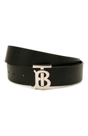 Мужской кожаный ремень BURBERRY черного цвета, арт. 8009812 | Фото 1