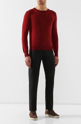 Мужской шерстяной джемпер BRIONI бордового цвета, арт. UMQ90L/0ZK18 | Фото 2