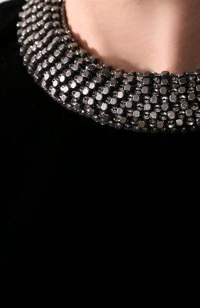 Бархатное платье Saint Laurent черное | Фото №4