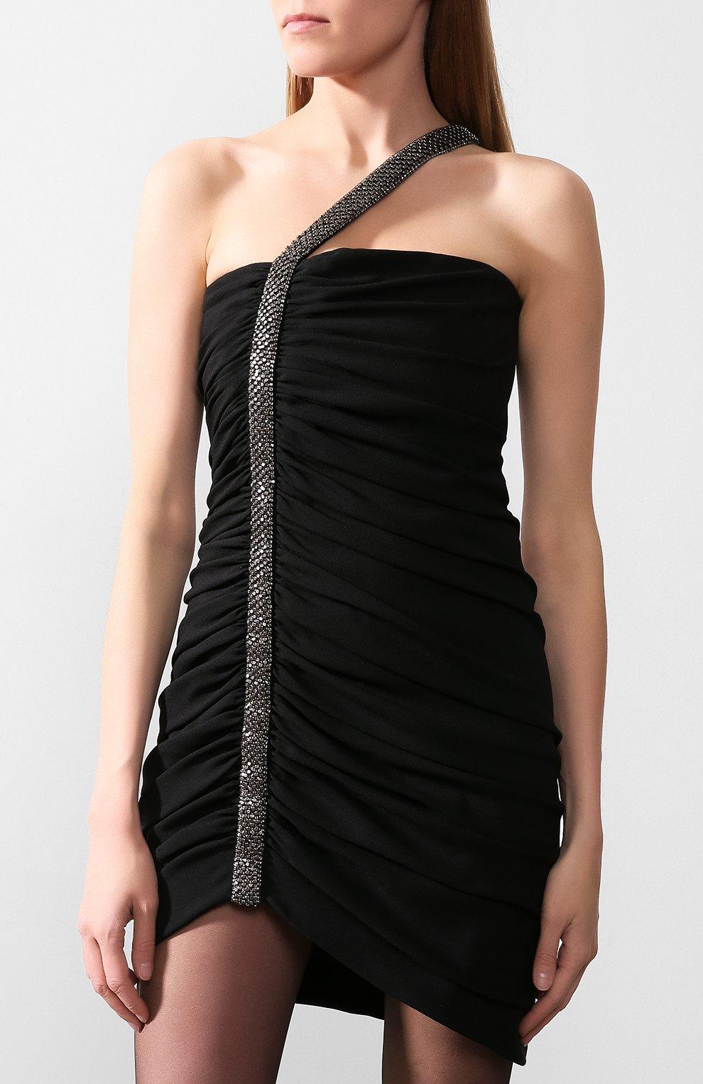 Платье Saint Laurent черное | Фото №2