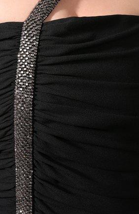 Платье Saint Laurent черное | Фото №4