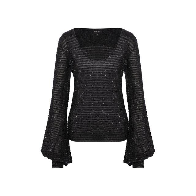 Пуловер из смеси шерсти и шелка Giorgio Armani