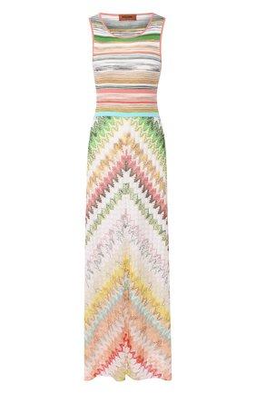 Платье из смеси вискозы и хлопка Missoni разноцветное   Фото №1