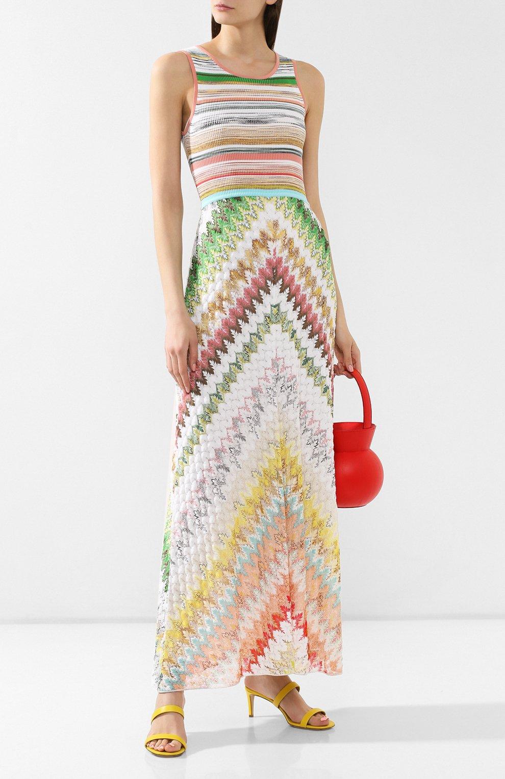 Платье из смеси вискозы и хлопка Missoni разноцветное   Фото №2