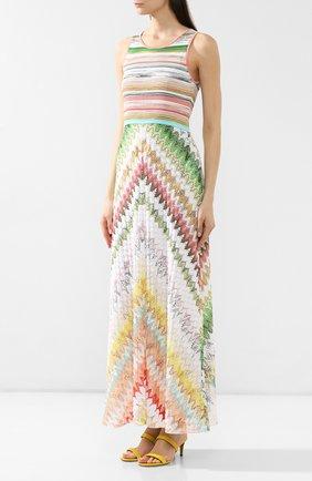 Платье из смеси вискозы и хлопка Missoni разноцветное   Фото №3