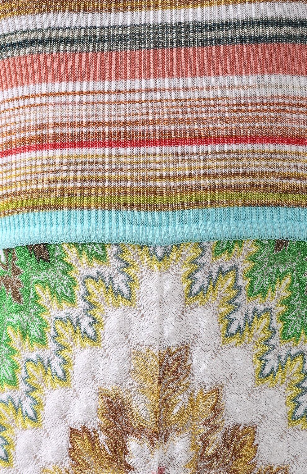 Платье из смеси вискозы и хлопка Missoni разноцветное   Фото №5