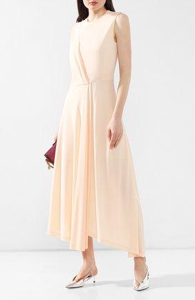 Платье из вискозы Givenchy светло-розовое | Фото №2