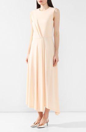 Платье из вискозы Givenchy светло-розовое | Фото №3