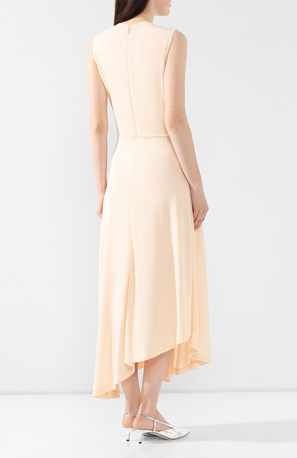 Платье из вискозы Givenchy светло-розовое | Фото №4