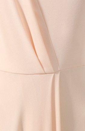 Платье из вискозы Givenchy светло-розовое | Фото №5