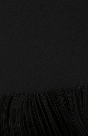 Пончо из смеси шерсти и шелка | Фото №5