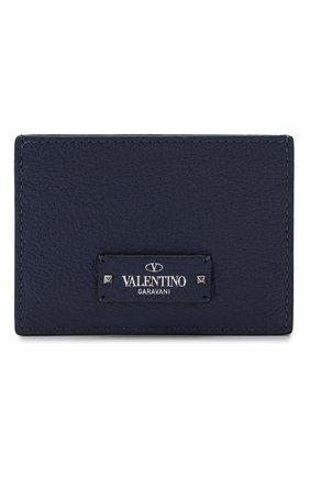 Мужской кожаный футляр для кредитных карт valentino garavani VALENTINO синего цвета, арт. SY2P0655/HFY | Фото 1