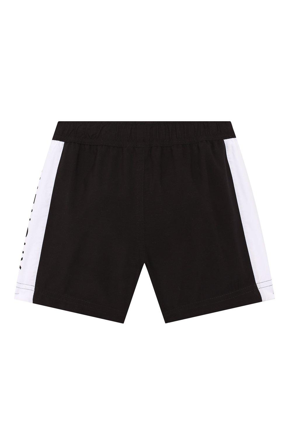 Детские плавки-шорты Givenchy черного цвета   Фото №2