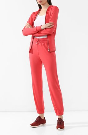 Женские комбинированные кроссовки wind  LORO PIANA бордового цвета, арт. FAF6259 | Фото 2