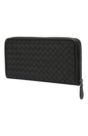 Женские кожаный кошелек BOTTEGA VENETA черного цвета, арт. 506685/V001N | Фото 2