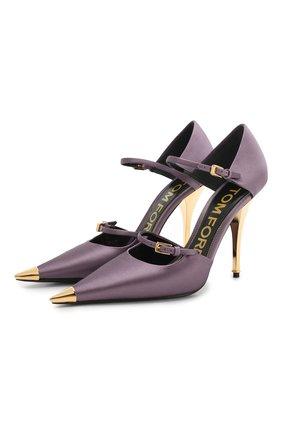Текстильные туфли Mary Jane | Фото №1