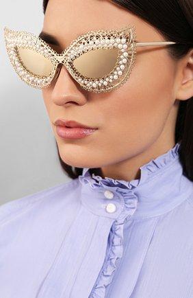 Мужские солнцезащитные очки DOLCE & GABBANA золотого цвета, арт. 2238H-02/03 | Фото 2