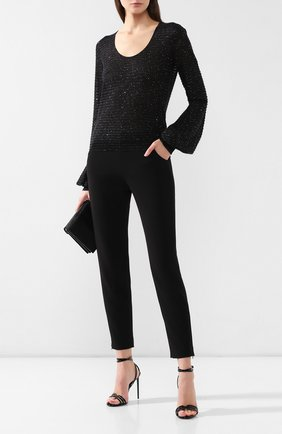 Женские шерстяные брюки GIORGIO ARMANI черного цвета, арт. 9SHPP04G/T001J | Фото 2
