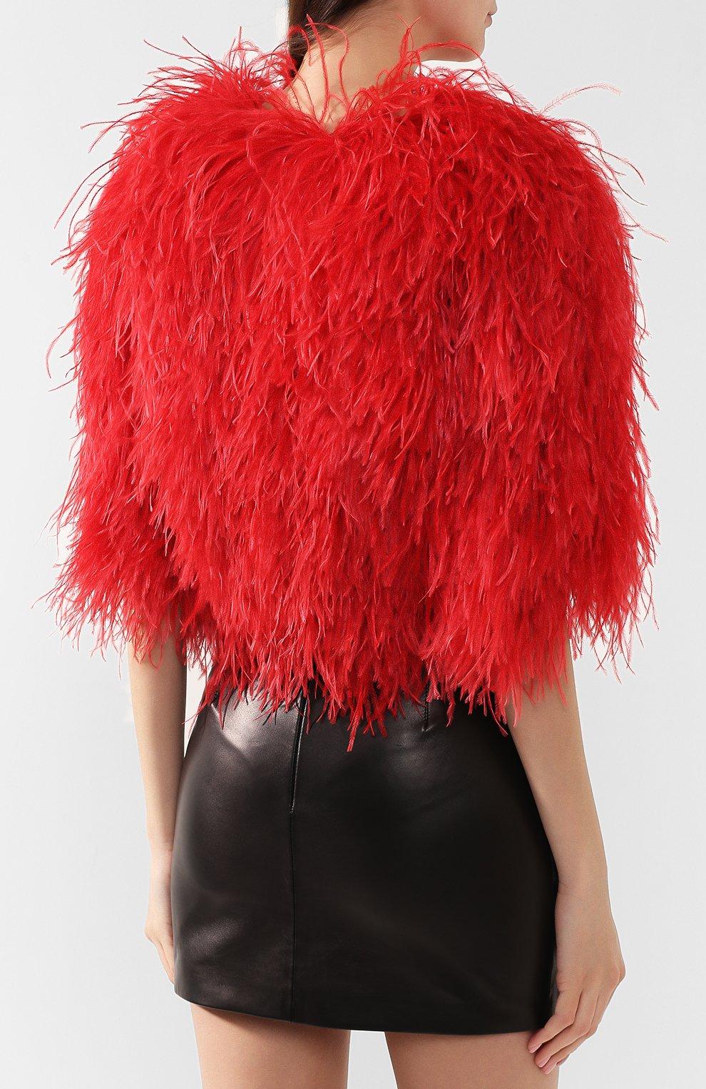 Накидка Dolce & Gabbana красная | Фото №4