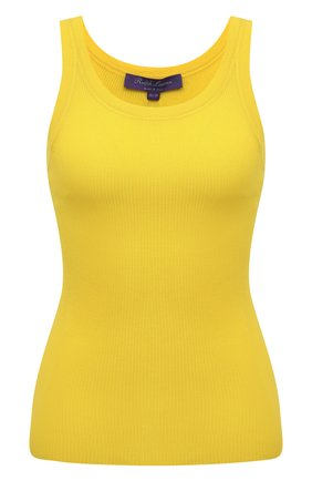 Женская шелковая майка RALPH LAUREN желтого цвета, арт. 290736303 | Фото 1