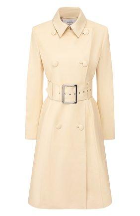 Женское кожаное пальто JITROIS бежевого цвета, арт. MANTEAU 0DE0N AGNEAU PL0NGE | Фото 1