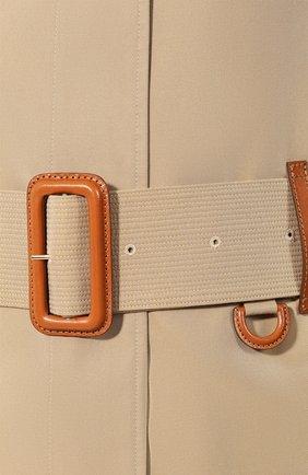 Хлопковая накидка Vintage Check Burberry бежевая | Фото №5