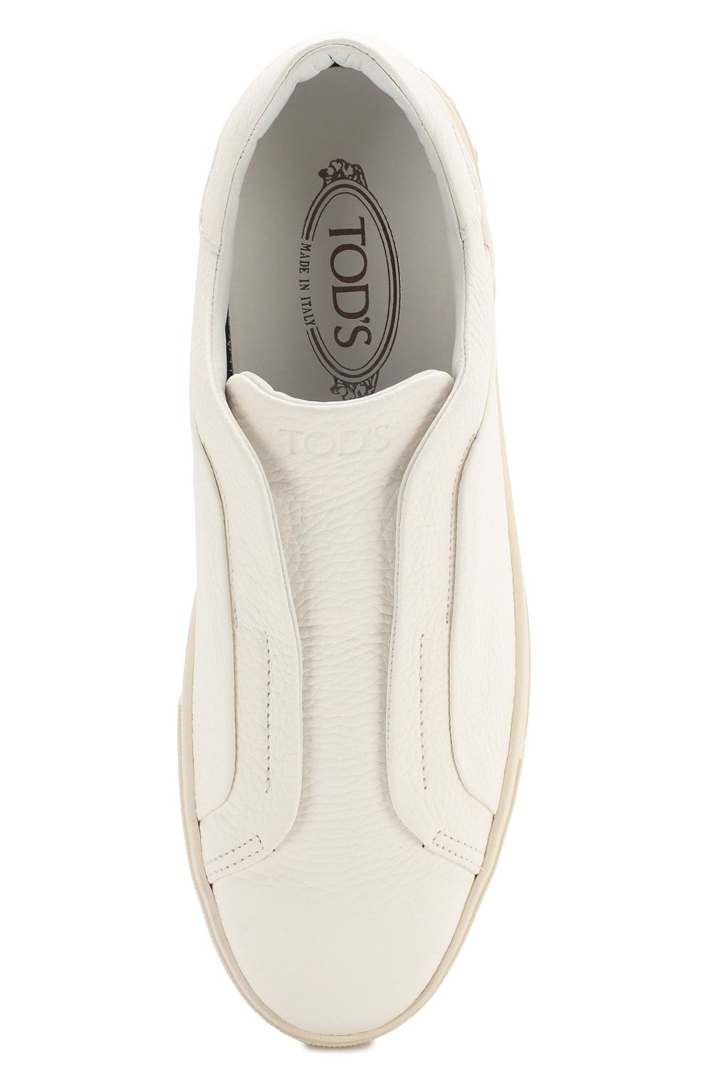 Мужские кожаные кеды TOD'S белого цвета, арт. XXM0XY0T200NLKB001   Фото 5