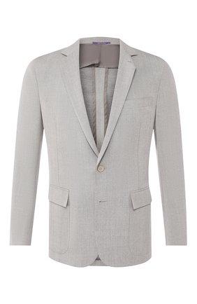 Мужской шерстяной пиджак RALPH LAUREN светло-серого цвета, арт. 798731946 | Фото 1