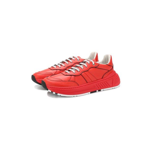 Кожаные кроссовки Bottega Veneta — Кожаные кроссовки