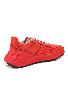 Мужские кожаные кроссовки BOTTEGA VENETA красного цвета, арт. 565646/VT040 | Фото 4