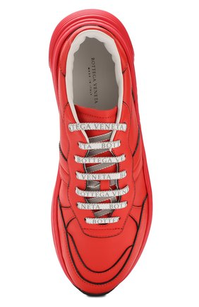 Мужские кожаные кроссовки BOTTEGA VENETA красного цвета, арт. 565646/VT040 | Фото 5