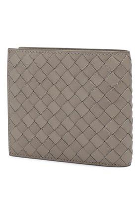 Мужской кожаное портмоне BOTTEGA VENETA серого цвета, арт. 113993/V4651 | Фото 2