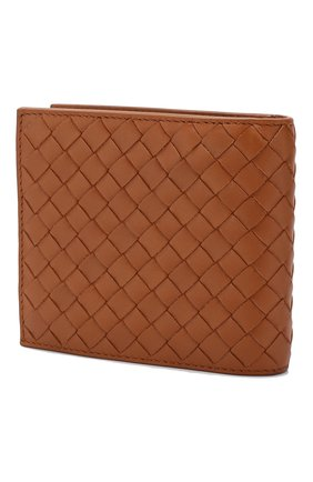 Мужской кожаное портмоне BOTTEGA VENETA коричневого цвета, арт. 113993/V4651   Фото 2