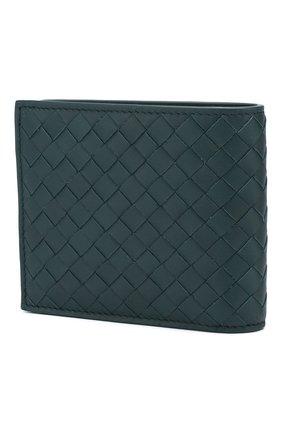 Мужской кожаное портмоне BOTTEGA VENETA синего цвета, арт. 113993/V4651 | Фото 2