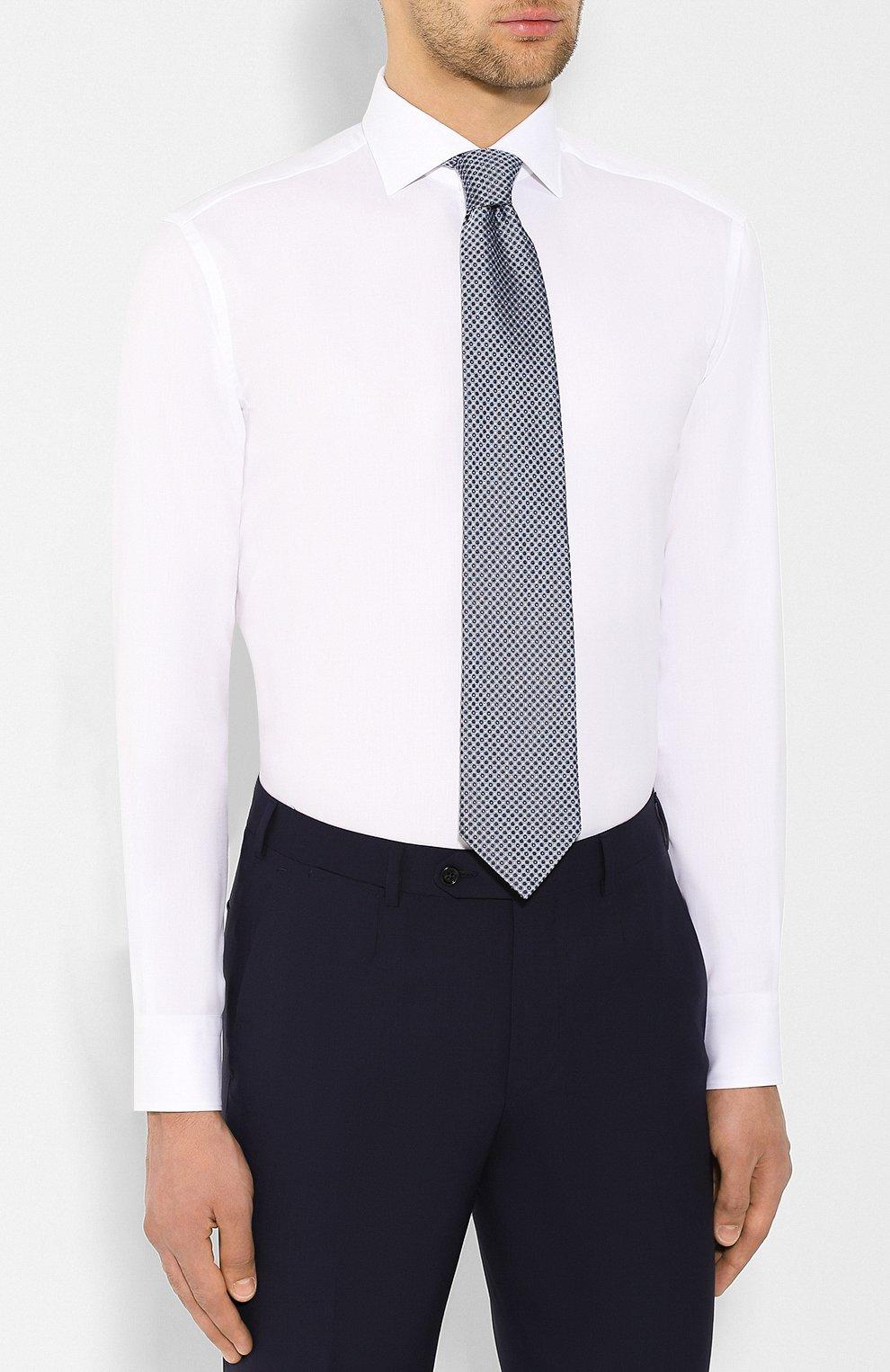 Мужская хлопковая сорочка BRIONI белого цвета, арт. RCL834/P7003 | Фото 4